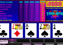 tens or better power poker casino